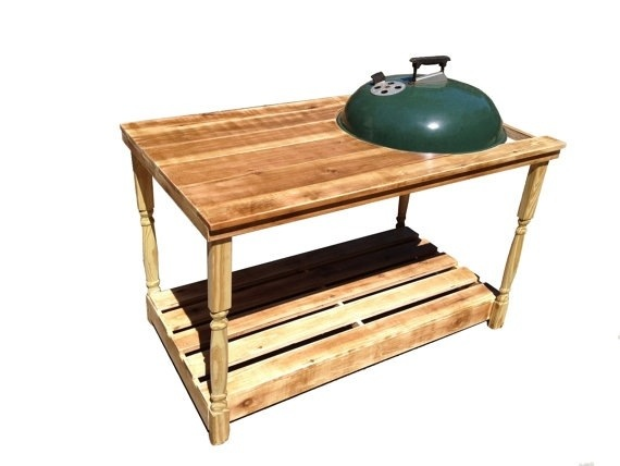 Custom Built Weber Grill Table Made To Order On Any Of The Weber - Table with grill built in